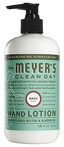 Mrs. Meyer's Clean Day Hand Lotion, 12 oz (Pack - 1, Basil)