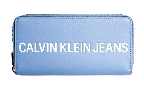 Calvin Klein Sculpted Logo Large Zip Around Alaskan Blue