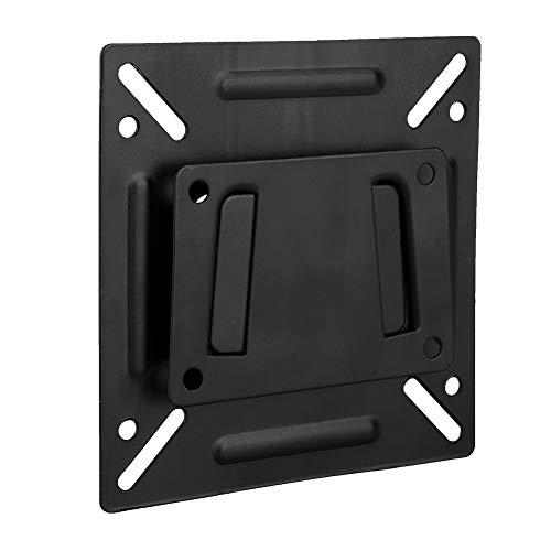 Mugast Monitorhalterung Wandhalterung,Aluminium Bildschirmhalterung LCD TV Fernseher Monitorhalter,Monitor Halterung Wandhalterung Wandhalter für LCD LED Monitor von 14-32 Zoll Schwarz