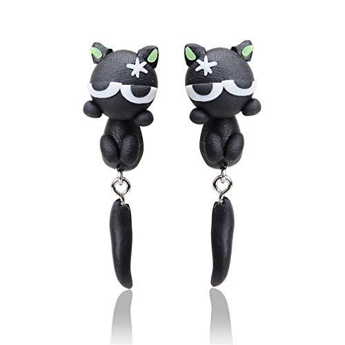 YAZILIND Frauen Mode Handmade Creative 3D Polymer Clay Nette Cartoon Katze Tier Ohrstecker Ohrringe Schmuck Geschenke # 1