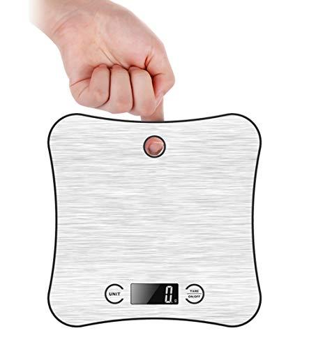 Balance de Cuisine Electronique Professionnelle 5 kg/1g, Balance numérique de cuisine de Haute Précision Ultra Mince