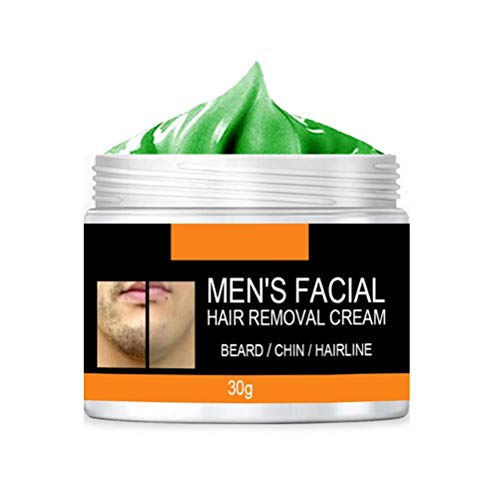 Lseqow Bart Haarentfernungscreme, Gesicht Haarentfernungscreme, Schmerzlose Enthaarungscreme für Männer, Jeder Hauttyp, 30/50g