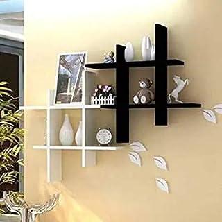SAW SAQIB ALI WOODEN HANDICRAFTS Wall Rack Shelves for Living and Bedroom Decoration (4*16*16) inches (MDF-Medium Density ...