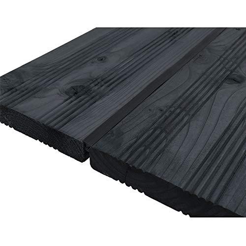 DILUMA Fugendichtband für Terrassendielen - Terrassenfugenband Made in Germany - Bodenfüllprofil/Fugendichtung für alle Terrassensysteme WPC Holz Stein, Größe:Breite 5-7.5 mm / 100 m, Farbe:Schwarz