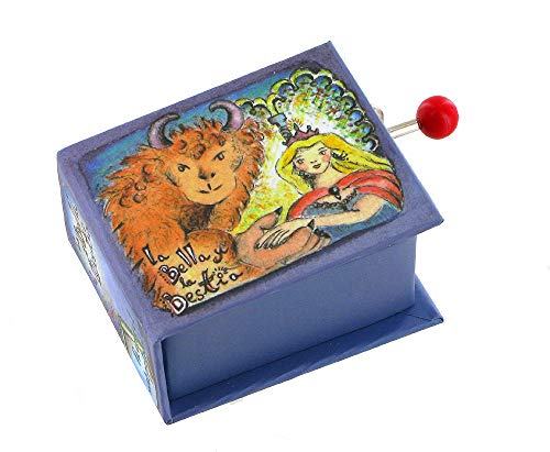 Boîte à musique à manivelle en forme de livre (Réf: 1608) - La Belle et la bête - duo - Studios Disney (Alan Menken)