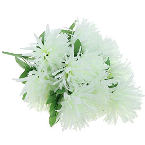 D DOLITY Künstliche Grabblumen Grabschmuck Grabgesteck Allerheiligen für Trauer und Gedenken zum Freunde und Verwandter - Weiß