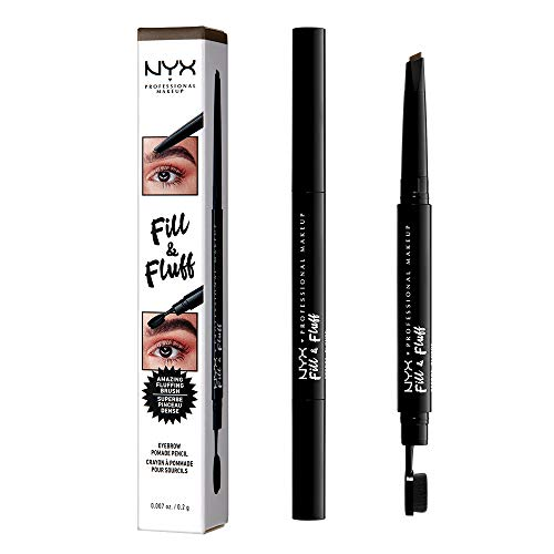 NYX PROFESSIONAL MAKEUP Fill & Fluff Eyebrow Pomade Pencil, Ash Brown