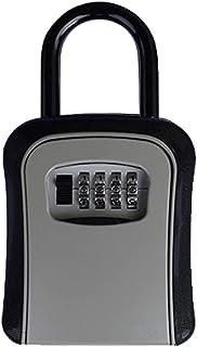 صندوق قفل المفاتيح، صندوق قفل مفاتيح محمول مقاوم للماء للاستخدام في الأماكن المغلقة والمفتوحة، مزود برمز قابل لإعادة الترك...