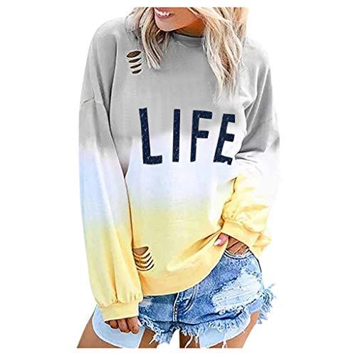 Susenstone Sweat Shirt Femme Imprimé Lettre USA Sweatshirts A Manche Longues Pas Cher à La Mode Chic Sexy Mode Pull Blouse