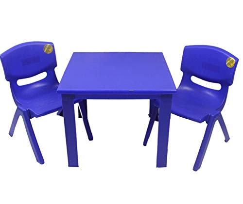 Kids Childrens Plastic Study Garden or Inside table and chairs set for Boys...