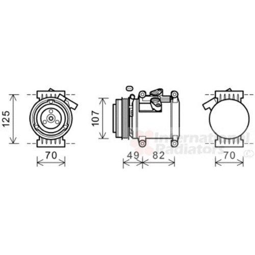 Van Wezel 0800K039 Compresor, Aire Acondicionado