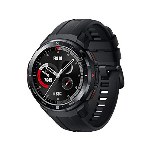 HONOR GS Pro Smartwatch Reloj Inteligente Deportivo 5ATM Resistente al Agua GPS Smart Watch Pulsera de Actividad 1.39' con Monitor de Pulsómetro Compatible con iOS y Android (Negro)