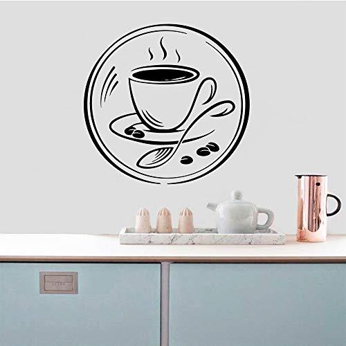 mlpnko Kaffee Aufkleber wasserdicht Wandtattoo 30X22cm