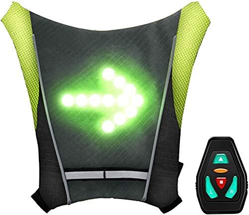 Volibear LED Cycling Back Vest, Bicycle Reflective Safety Light and...