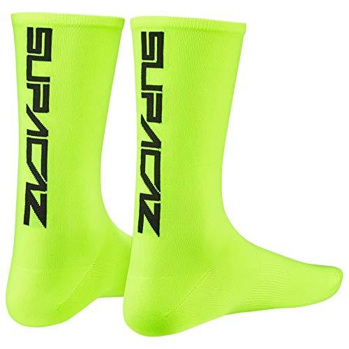 Supacaz Calcetines Neon Yellow L-XL