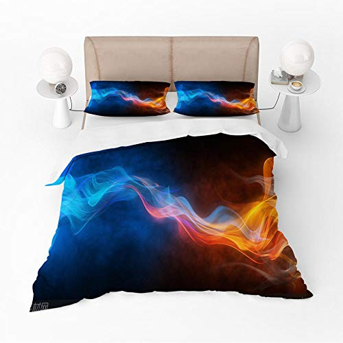 Microfibre 3D Digital Print Three-Piece Set Universe world Duvet Cover and Two Pillow Cases Microfibre 3D Digital Print Three-Piece Set,200x200cm