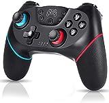 WonDa Mando Inalámbrico Nintendo Switch, Controlador Inalámbrico para Nintendo Switch Pro/ PC Gamepad Bluetooth Inalámbrico con Doble Choque Vibración Controlador,Función de Eje giroscópico de Soporte