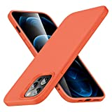 ESR Cloud Series Case Compatible with iPhone 12 Pro Max 6.7-Inch [Silicone Rubber Case] [Comfortable Grip] [Screen and Camera Protection] [Soft Lining] [Shock-Absorbing] - Orange
