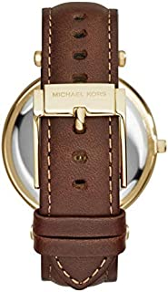 Michael Kors Women's Brown Dial Leather Band Watch - MK2382