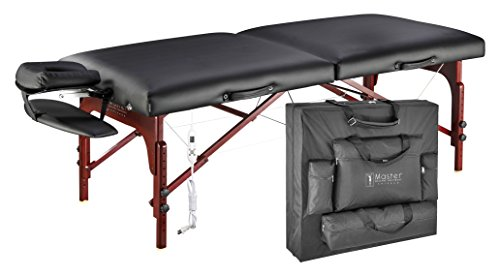 """Master Massage 31"""" Montclair Therma-Top Portable Massage Table with Memory Foam Package,Black"""