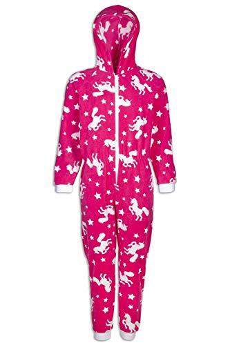 CAMILLE Strampler-Pyjama-Sets für Kinder mit Mehreren Aufdrucken 12-14 Years Pink Unicorn