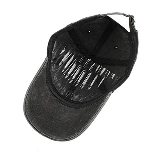 QiuFeng Gorra Beisbol Hombre Sombrero para Stay Woke Run Estilo de Fuente Sarga de algodón Popular Gorra de Perfil bajo Sombrero Moda Hombres Mujeres Golf Gorra de béisbol Hueso Sombrero Bordado