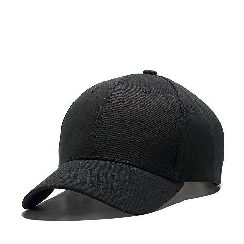JEEDA Gorra de béisbol Snapback Hiphop, gorra ajustable, unisex, visera plana, gorra de béisbol para hombre y mujer JCBQ Negro M