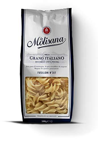La Molisana, Fusilloni n.317 Pasta Corta, SOLO Grano Italiano - 500g