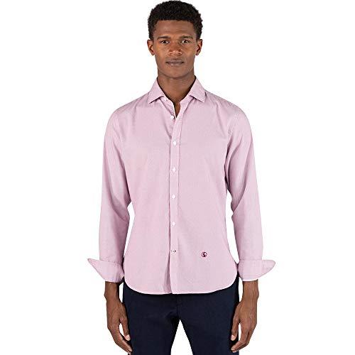 El Ganso Urban Oxford Camisa casual, Rojo (Granate 0027), XX-Large para Hombre
