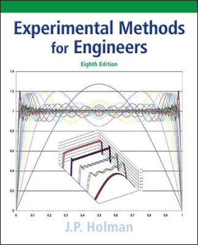 Compare Textbook Prices for Experimental Methods for Engineers Mcgraw-hill Series in Mechanical Engineering 8 Edition ISBN 9780073529301 by Holman, Jack