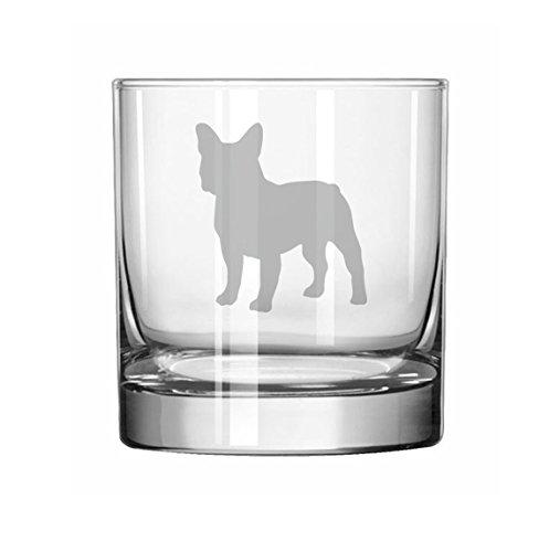 11 oz Rocks Whiskey Highball Glass French Bulldog