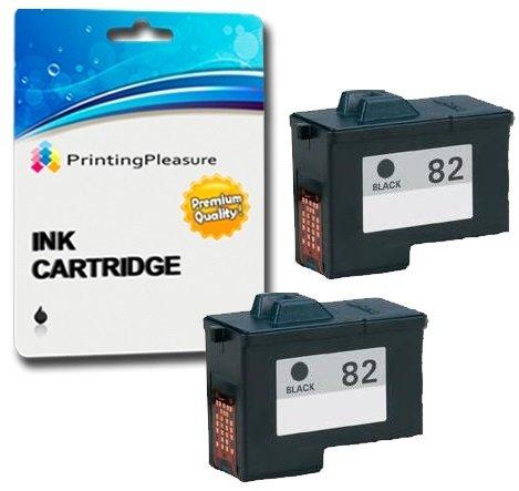 2 Tintenpatronen kompatibel zu Lexmark 82 für Lexmark X5100 X5130 X5150 X5190 X5200 X6100 X6150 X6170 X6190 X65 Z55 Z55se Z65 Z65n Z65p - Schwarz, hohe Kapazität