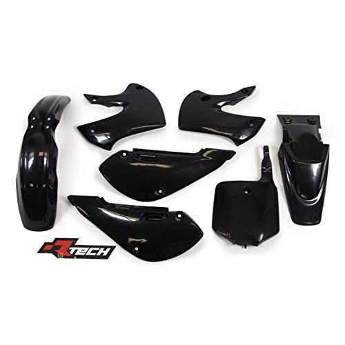 Racetech - Kit Plastique Complet Rtech Compatible Kawasaki 65 Kx 01-17 / Black Noir