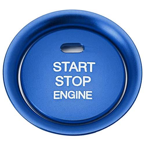 Heritan Juego de 2 piezas de botón de arranque sin llave y decoración envolvente compatible para 3 6 CX-3 CX-5 CX-9 MX-5