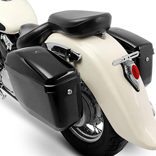 Borse Laterali rigide Compatibile con Kawasaki W800 Cafe/Street NV