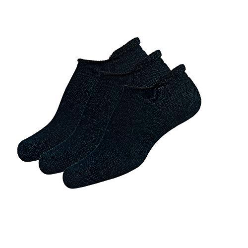 Thorlos T Max Cushion Tennis Rolltop Socks, Black (3 Pair Pack), Large