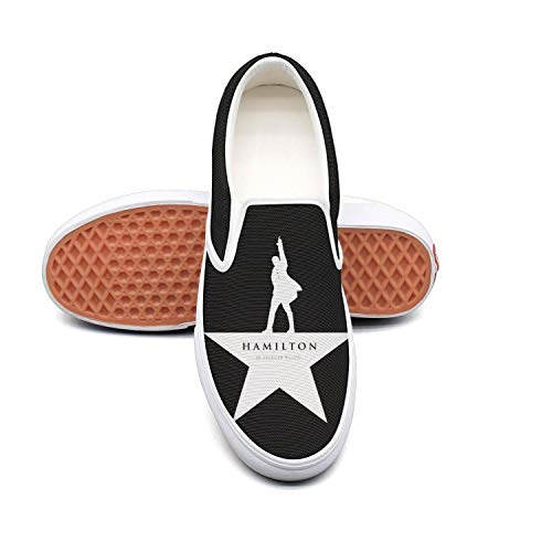 Walking Shoes for Men Hamilton-Jazz-theatre-punk-logo-Broadway-Musical- white Best Running Shoesn