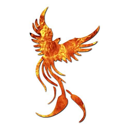 Phoenix Mythology - Vinyl Decal Sticker - 2.25' x 3.75' - Orange Flames