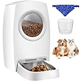 OMORC Automatic Pet Feeder, Automatic Food Dispenser for Cats, Dogs, with Stainless Steel