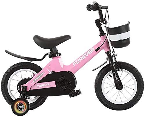 Miwaimao Bicicleta de Niños Niño Niña Bicicleta De 3 – 6-7 Años Bicicleta De Niño De 12/14/16 Pulgadas Bicicleta De Aire Libre (Color, Rosa, Tamaño: 14