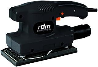 Lijadora orbital RDM Quality Tools 70004, 135W, 10000 rpm, adaptador de aspiración, botón de bloqueo. Color rojo y negro.