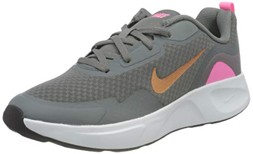 Nike WEARALLDAY (GS), Zapatillas para Correr, Smoke Grey Mtlc Copper Pink Glow Off Noir, 38 EU