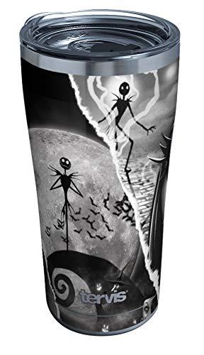 Tervis Disney – Copo isolado de Estranho Mundo de Jack, 590 ml – Aço inoxidável, Colagem rasgada