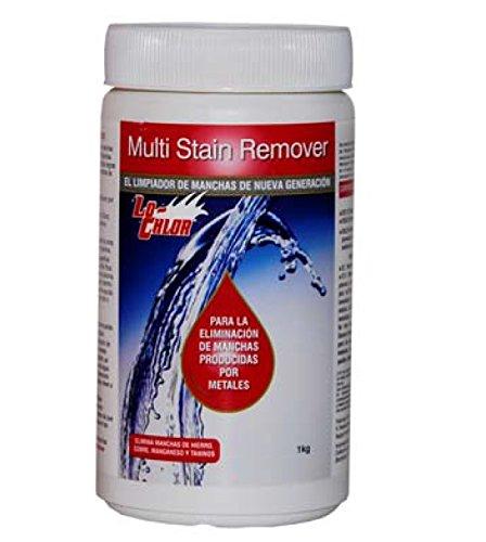 Multi-Stain Remover, elimina las manchas producidas por metales en las paredes y fonde de todo tipo de piscinas