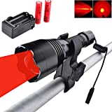 WINDFIRE WF-360R Red Hunting Light Tactical LED Flashlight 350 Yards Focus...