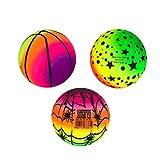 VOSAREA Arc- en- Boules PVC Balles de Jeu pour Enfants Jeux De Sport Handball Dodgeball Kickball Intérieur Sport en Plein Air Jeu
