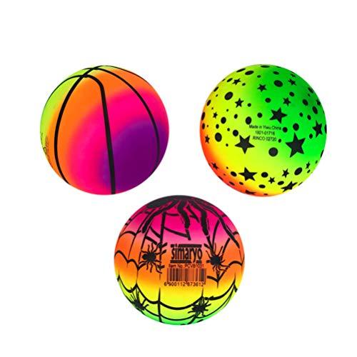 WINOMO Regenbogen Bälle PVC Spielplatz Bälle für Kinder Sport Spiele Handballs Völkerball Kickball Indoor Outdoor- Sport- Spiel