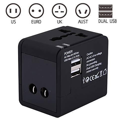 Sengy Universele 2,1 A USB-poort, reisoplader, US/UK/AUXT/EU converterstekker, voor internationale reizen, zakenreizen