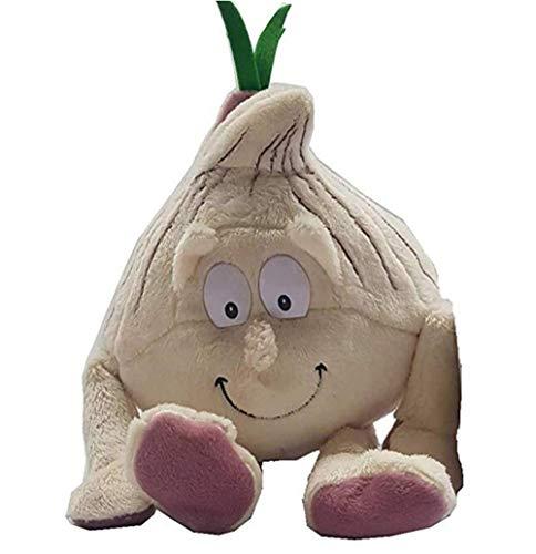 BriskyM 1 Stück Früchte Gemüse Weich Plüschtier Baby Jungen Mädchen Stofftiere Schlaf Komfort Spielzeug für Baby Kinder Lernen Geschichte Spielzeug Puppen (Zwiebel, 22cm)