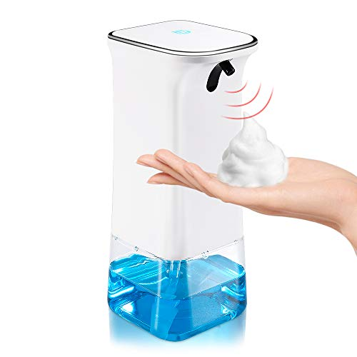 YINEME Automatic Foaming Hand Soap Dispenser Touchless with 12oz for Bathroom Kitchen